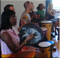 Drum circle fun for all ages and abilities.