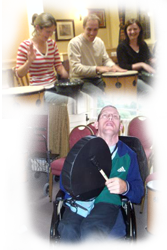 aerobic activity drumming enjoyed by all