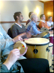 Team building drums in Leeds, Bradford and West Yorkshire.