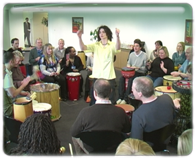 Body Percussion and Drum Circle fun away day activities
