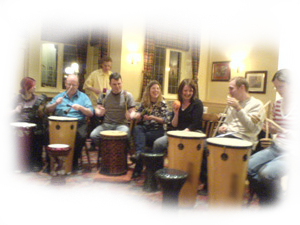 expressing rhythmical spirit, making new friends by making your own drumming entertainment