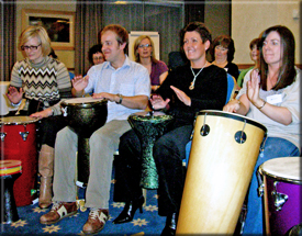 Leeds, Harrogate, Huddersfield and Bradford team building drumming activity for fun!