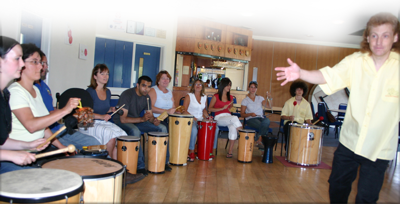Relax, reduce stress, improve your health whilst having fun with an Active Rhythmology drum circle